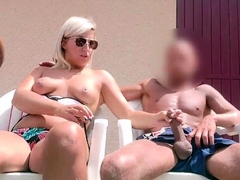 Sweet petite blonde pussy massage hidden cam fucking