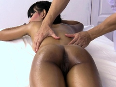 Thai chick with braces fucked by her masseur