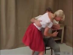 Ass Spanking For Naughty Schoolgirl Part4