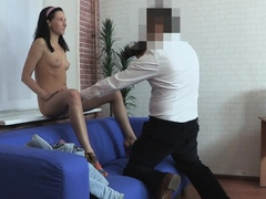Lascivious bombshell Diana's vag is rammed hard