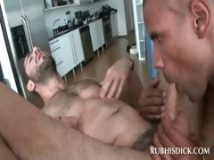 Afro Hot Gay Masseur Gets Dick Ridden By Hot Stud