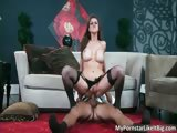 Attractive brunette slut Eve Laurence part3