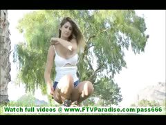 karina-sexy-ass-blonde-in-short-skirt-flashing-panties